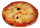 PRINCESSE: Tomate, Champignons, jambon, oignons, fromage, olives. - Prix 10.50€