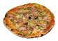 Pizza Kebab: Tomate, fromage, oignons, poivron, viande kebab, olives. - Prix 10.50€